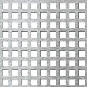 Tablă din aluminiu perforată cu găuri pătrate